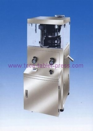 Electronic powder tablet press