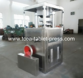 Solid alcohol tablet press